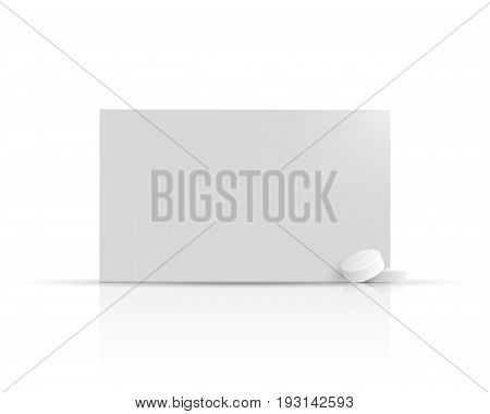 Packaging of medicines and pills. Vector template box for pharmaceuticals