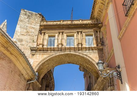 Arch Between The Basilica De La Virgen And The  Cathedral In Valencia