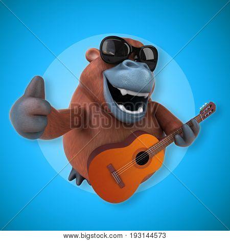 Fun orang outan - 3D Illustration