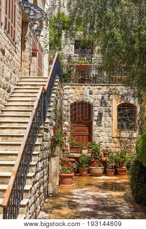 Deir El Qamar in mount Lebanon Middle east