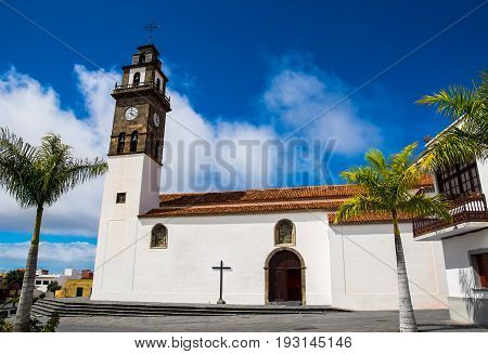 Catholic church of Los Remedios on Remedios Square Buenavista del Norte Tenerife Canary Islands Spain