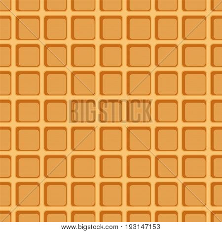 Waffle seamless pattern. Background of Sweet and dessert food. Vector Illustration.