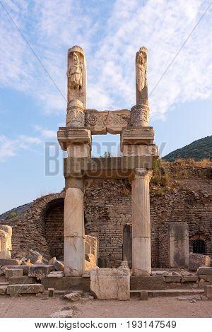 Domitian Temple in the ancient city of Ephesus, Selcuk, Turkey