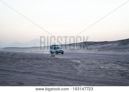 Car Or Jeep Driving In Desert, Hurghada, Egypt