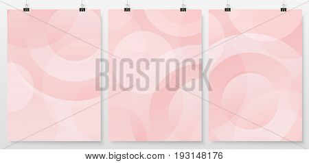 Poster Backgrounds Set Business Backdrops Collection Retro Pink