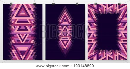 Poster Backgrounds Set Business Backdrops Collection Triangle