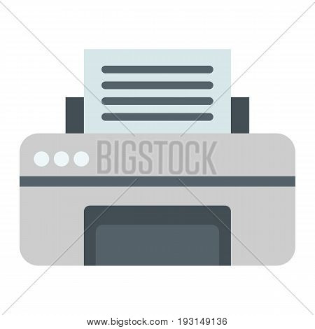 Printer flat icon, fax and office, vector graphics, a colorful solid pattern on a white background, eps 10.