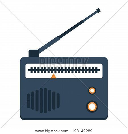 Radio flat icon, fm and communication, vector graphics, a colorful solid pattern on a white background, eps 10.