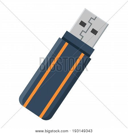 USB flash drive flat icon, device and hardware, vector graphics, a colorful solid pattern on a white background, eps 10.