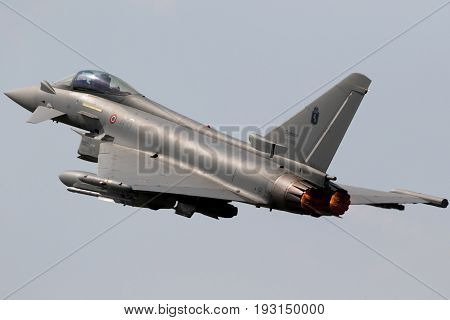 Italian Air Force Eurofighter Typhoon Fighter Plane