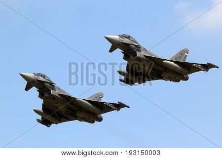 Spanish Air Force Eurofighter Typhoon Fighter Plane