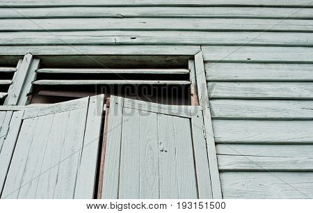 dark windows in old haunted house abstract retro