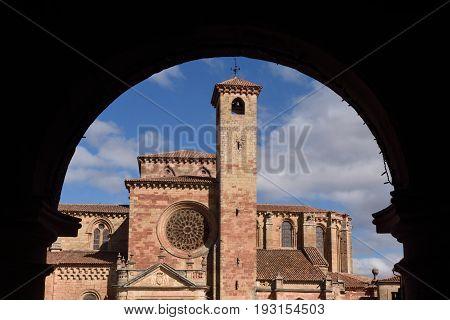 Cathedral And Main Square,  Siguenza, Guadalajara Province, Castilla-la Mancha, Spain