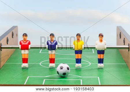 foosball figure team table sport soccer ball