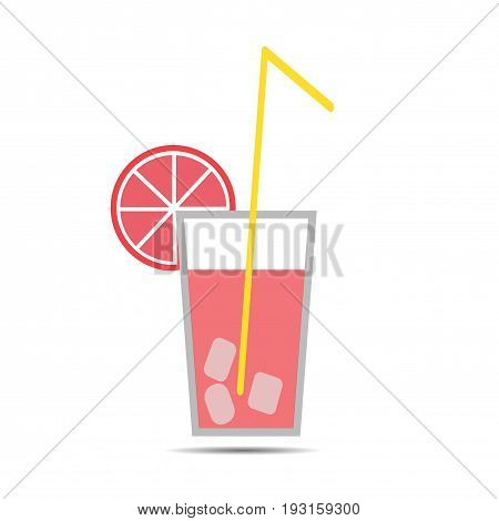 Coctail flat icon. Fresh drink. Summer. Relax.