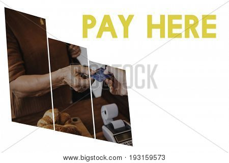 Purchase Buy Pay Check Word Graphic