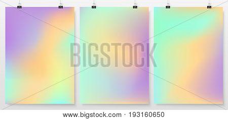 Poster Design Banner Business Concept Smooth Pastel Color 1