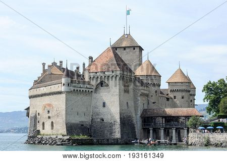 The Castle Of Chillon In Montreux