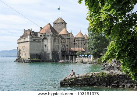 The Castle Of Chillon In Montreux, Switzerland