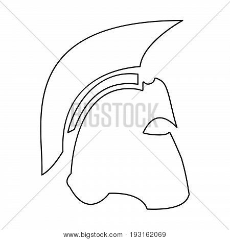 Spartan Helmet   The Black Color Icon .