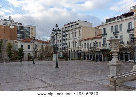 ATHENS, GREECE - JANUARY 20, 2017: Mitropoleos square in Athens, Attica, Greece