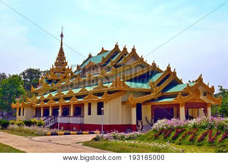 Myanmar Temple in Lumbini, Nepal - birthplace of Buddha Siddhartha Gautama.