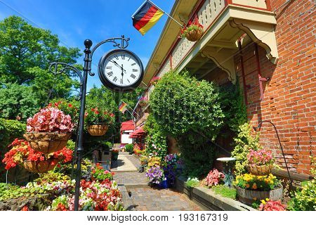 The gardens in the German Village area of Columbus, Ohio are spectacular.