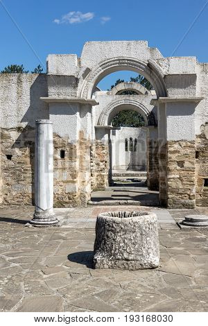 Ruins of Round (Golden) Church  of St. John, Preslav near The Second capital city of the First  Bulgarian Empire  Great Preslav, Bulgaria