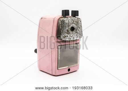 Mechanical Pencil Sharpener Isolated On White