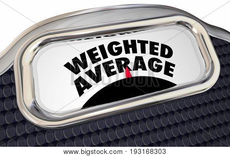 Weighted Average Scale Measurement Words 3d Illustration
