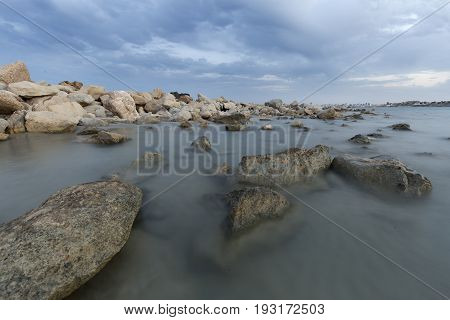 Creek Of Morro Blanc In Campello, Spain.