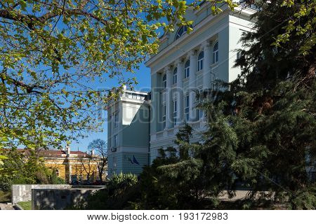 SHUMEN, BULGARIA - APRIL 10, 2017:  Building of Courthouse in city of Shumen, Bulgaria