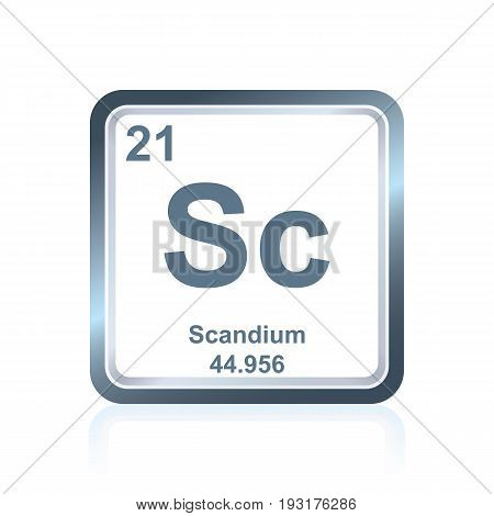 Chemical Element Scandium From The Periodic Table