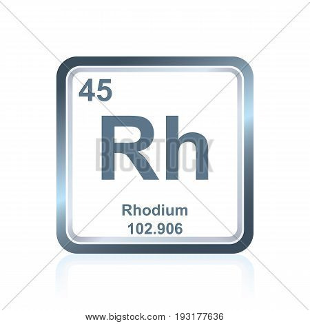 Chemical Element Rhodium From The Periodic Table