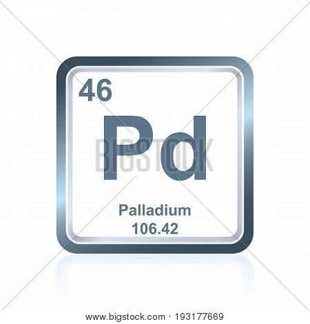 Chemical Element Palladium From The Periodic Table