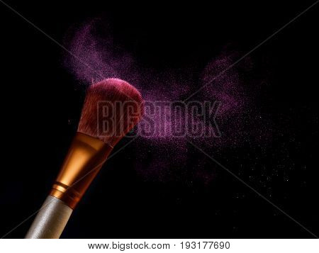 Beauty And Makeup Concept. Cosmetics Brush
