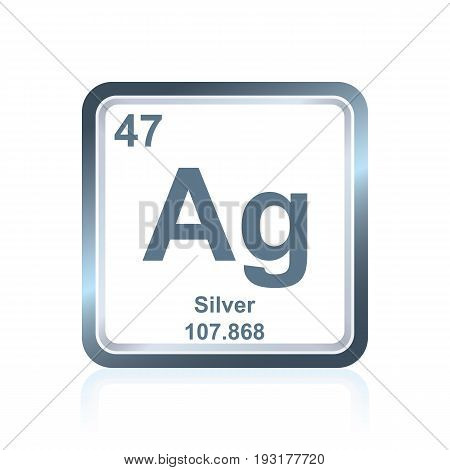 Chemical Element Silver From The Periodic Table