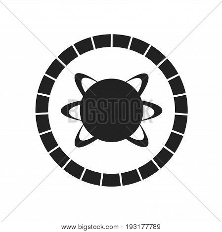 Atom logo design, logo template, stock logo design