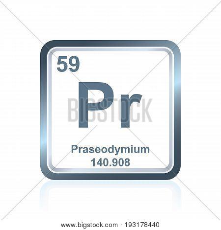 Chemical Element Praseodymium From The Periodic Table