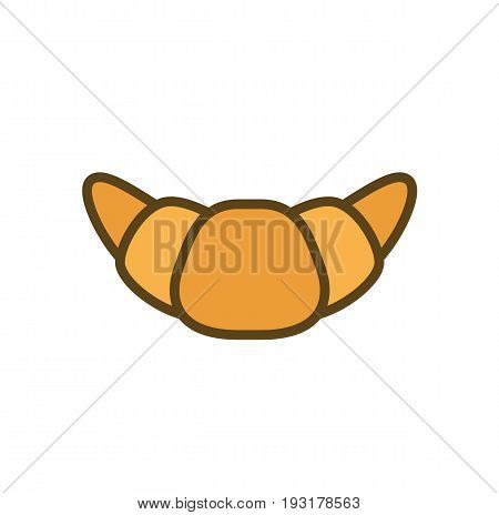 Croissant icon. Croissant isolated on white background. Vector stock.