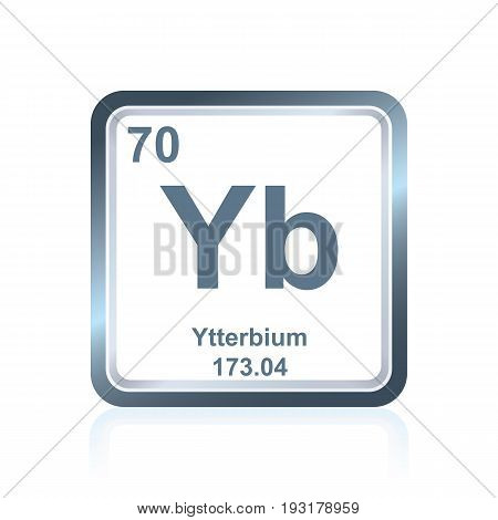 Chemical Element Ytterbium From The Periodic Table