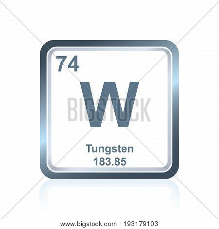 Chemical Element Tungsten From The Periodic Table