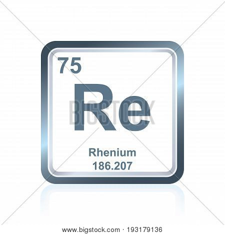 Chemical Element Rhenium From The Periodic Table