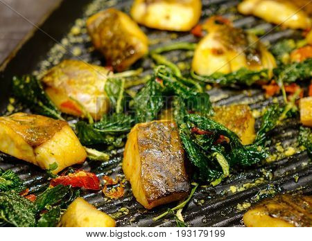 Grilled Fish At The Kitchen