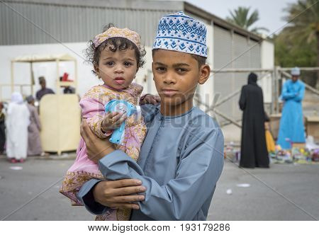 Omani Family Dressed For An Occasion Of Eid Al Fitr