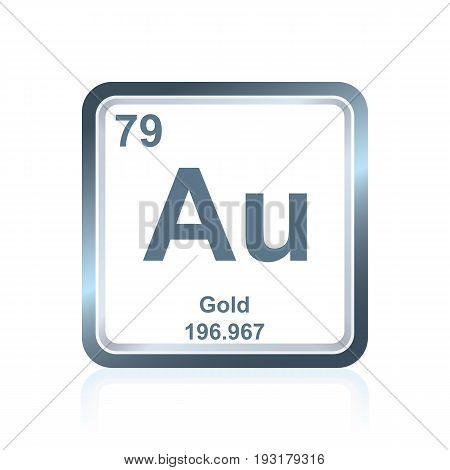 Chemical Element Gold From The Periodic Table