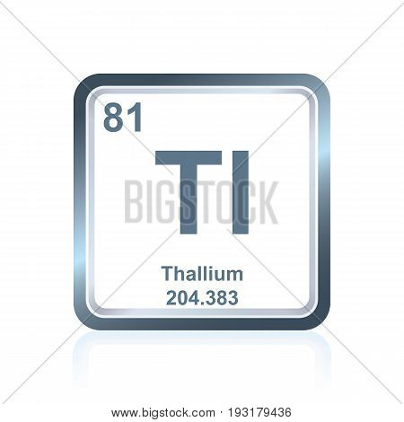 Chemical Element Thallium From The Periodic Table