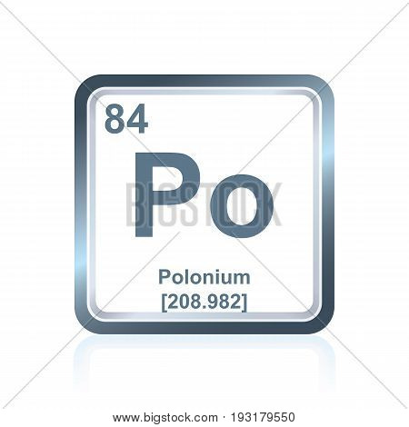 Chemical Element Polonium From The Periodic Table