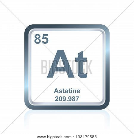 Chemical Element Astatine From The Periodic Table