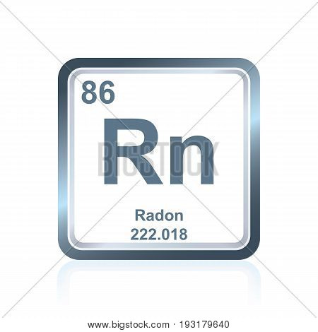 Chemical Element Radon From The Periodic Table